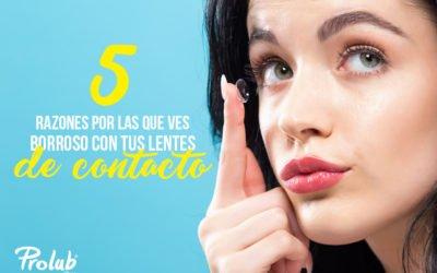 5 razones por las que ves borroso con tus lentes de contacto